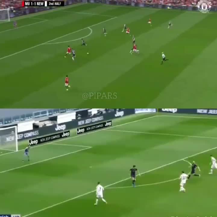 国外球迷对比:曼联和尤文给C罗的传球